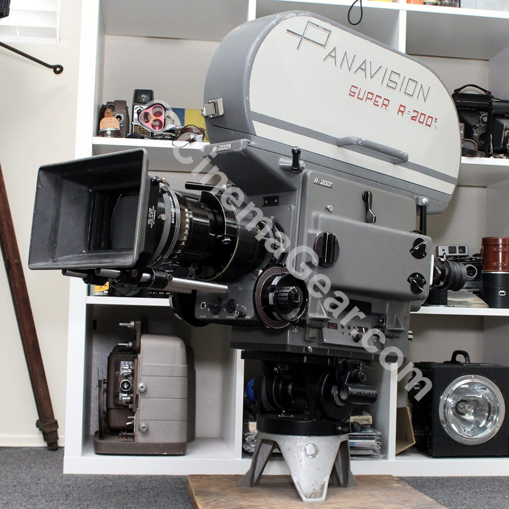 Panavision SPSR Super R200 camera with zoom lens and matte box